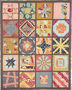 Quilt top from Craftsy 2012 Block of the Month class; free and online