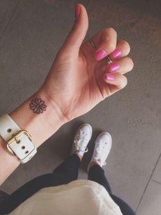 flower on the wrist tattoo - Google Search