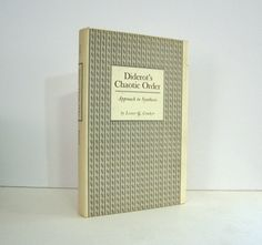 Diderot's Chaotic Order, Approach to Synthesis, by Lester G. Crocker, Study of Diderot 18th Century Philosopher Encyclopedist Vintage Book