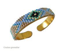 Bracelet tissé perles de miyuki : Bracelet par couleur-grenadine33
