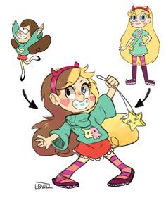crossover,Star vs the forces of evil,Star Butterfly,Mabel Pines
