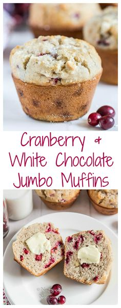 Cranberry & White Chocolate Jumbo Muffins - long pin 2