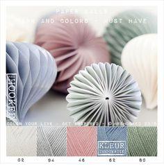 Kleurinspiratie Paper Balls / Yarn and Colors - must have