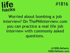 If I ever do job interview/employment skills CDE.I doubt that but just in case Hack My Life, Simple Life Hacks, Useful Life Hacks, Life Hacks Websites, Job Interview Questions, Job Interview Tips, Job Interviews, Teaching Interview, School Life Hacks