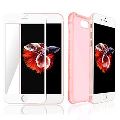 iPhone Plus Clear Pink Case & Screen Protector Best Invisible Protection for Apple Phone Cover Anti Slip Grip & Newest Air Bumper Technology to Prevent Breakage Buy Iphone 7, Iphone Cases, Screen Protector, Cell Phone Accessories, Apple, Technology, Pink, Apple Fruit, Tech