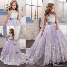 Newest Flower Girl Pageant Dress Formal Ball Gown Princess Party Prom Birthday - Ideas of Red Flower Kids Flower Girl Dresses, Girls Pageant Dresses, Gowns For Girls, Pageant Gowns, Little Girl Dresses, Flower Dresses, Dresses For Children, Nice Dresses, Pagent Dresses