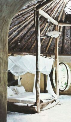 Stunning natural bed frame