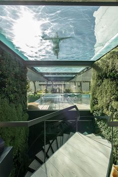 """archatlas: """" The Wall House by Guedes Cruz Arquitectos Like a wall in a Castle not in stone, but in concrete, glass and wood.Not to for protection but because of the neighbours and the strong Atlantic Wind.A Patio house with a Mediterranean country. Villa Luxury, Glass Bottom Pool, Glass Pool, Architecture Design, Design Exterior, Dream Pools, Best Interior Design, Cool Pools, Pool Designs"""