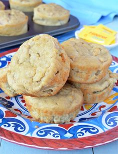 Muffins de manzana y avena sin azúcar Baby Food Recipes, Sweet Recipes, Cookie Recipes, Snack Recipes, Tortas Light, Good Food, Yummy Food, Food Humor, Healthy Sweets