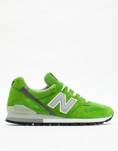 For men, New Balance 996 in Green, $140.