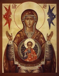 - Orthodox Our Lady of the Sign Magnet Blessed Mother Mary, Blessed Virgin Mary, Religious Icons, Religious Art, Russian Icons, Byzantine Icons, Holy Mary, Madonna And Child, Art Icon