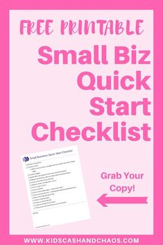 Starting a small business? Grab this FREE checklist today! It lists out all the steps you need to do in order to start a business right.