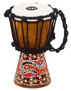 Meinl HDJ5 XXS Mini Djembe Python Muster  #percussion #djembe