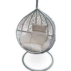 Outdoor Hanging Ball Chair - White