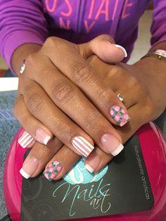Acrylic nails, nails art, nails, white nails