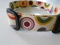 Dog Collar  Round and Round by FourPawsJewelry on Etsy, $15.00