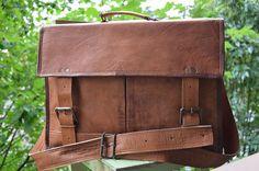 SALE 17'' Laptop Messenger Briefcace Satchel Handmade by Redinans