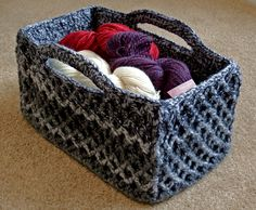 This is a fabulous crochet basket. Rectangular Diamond Trellis Basket - Media - Crochet Me