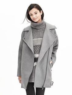 Cotton Moto Cocoon Coat