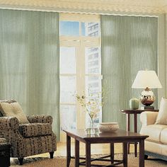 When compared to the Vertiglide shade by Hunter Douglas, our Cellular Blackout shades offer similar styling and function for a much lower price!