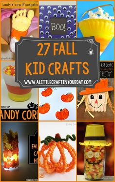 27 Fall Kid Crafts- Keep your kids entertained this fall season with some of these great kid craft ideas!