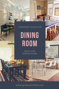 Our dining room color inspiration gallery includes our most popular color schemes. From modern to conventional, obtain inspired by these fashionable dining-room paint color. #diningroom#paint#color#ideas#design#wall#table
