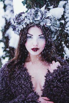 ❀ Flower Maiden Fantasy ❀ women & flowers in art fashion photography - lavender flower wreath
