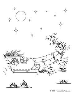 www.hellokids.com : Print page REINDEER AND CHRISTMAS GIFTS dot to dot game
