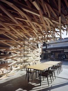 Kengo Kuma custom Starbucks store in Japan.