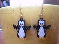 Little beaded Penguin Earrings
