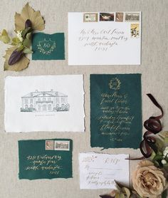 Fall inspired calligraphy invitation set from a recent shoot with @sinclairandmoore & @maria.lamb