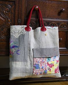 Patchwork Bags, Quilted Bag, Tote Bags For College, Crochet Shoulder Bags, Denim Tote Bags, Embroidered Bag, Linen Bag, Fabric Bags, Small Bags