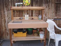 Potting table with sink potting bench design create a great place for plants and gardening chores . potting table with sink potting bench