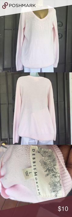 Sequin sweater top Blouse Stretch debbie morgan Sweaters Cardigans