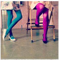 spring spring spring !!! purple tights. blue/teal tights. ballet flats.