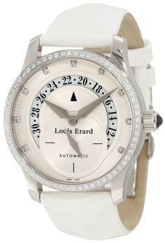 Louis Erard Women's 91601SE50.BDV12 Emotion Automatic Diamond White Patent Date Watch $3,105.00 #LouisErard