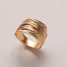Dune - 14k Gold Ring by Doron Merav