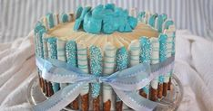 I had the pleasure this spring of making the baby shower cake for one of my colleagues, who is having her first baby this year. She fo...