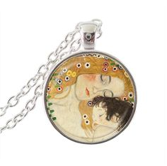 fashion jewelry silver chain Gustav Klimt necklace art picture pendant glass cabochon pendant handmade jewelry -in Chain Necklaces from Jewelry on Aliexpress.com | Alibaba Group