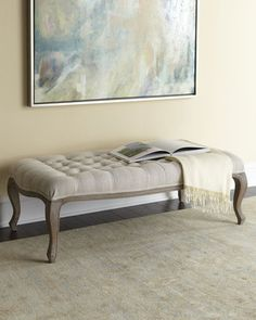 An upholstered bench can transform into a formal living room piece ...