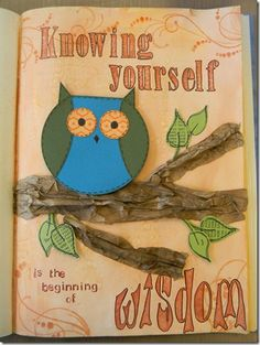 knowing yourself finished page 061313 Art Journal Owl Page