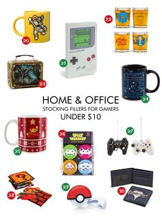 Home & office - stocking fillers for gamers under $10