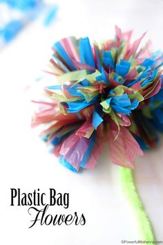 Plastic Bag Flowers - Cutting Skills in Practice
