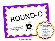 Bingo for rounding! This set includes 4 different ROUND-O game cards, ROUND-O clue cards, and a PowerPoint Presentation for easy display on a Smart...