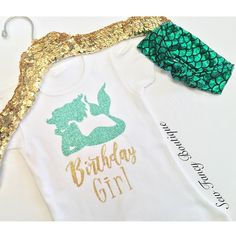 Girls Birthday Girl Mermaid shirt is made to order Please note Infant sizes will…