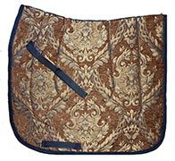 Beautiful Baroque Brocade Dressage Saddle Pads $39.95. Several colors to choose from. To order go to http://www.equestrianhomeaccessories.com