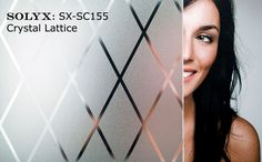 "Decorative Films | Window Film | Stained Glass | Privacy | Treatment - SOLYX: SX-SC155 Crystal Lattice Static Cling. 36"" wide"