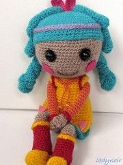 Feather crocheted doll (ladynoir63) Tags: doll indian crochet feather amigurumi crocheted lalaloopsy