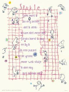 Aan de muur - Poëzieposters - poëzieposter Stukje