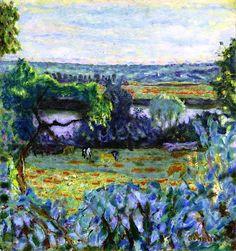 Waning Day, Vernon, Evening / Pierre Bonnard - 1926